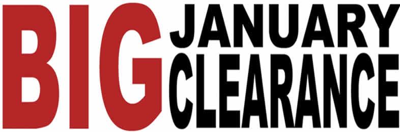 Big January Clearance Sale