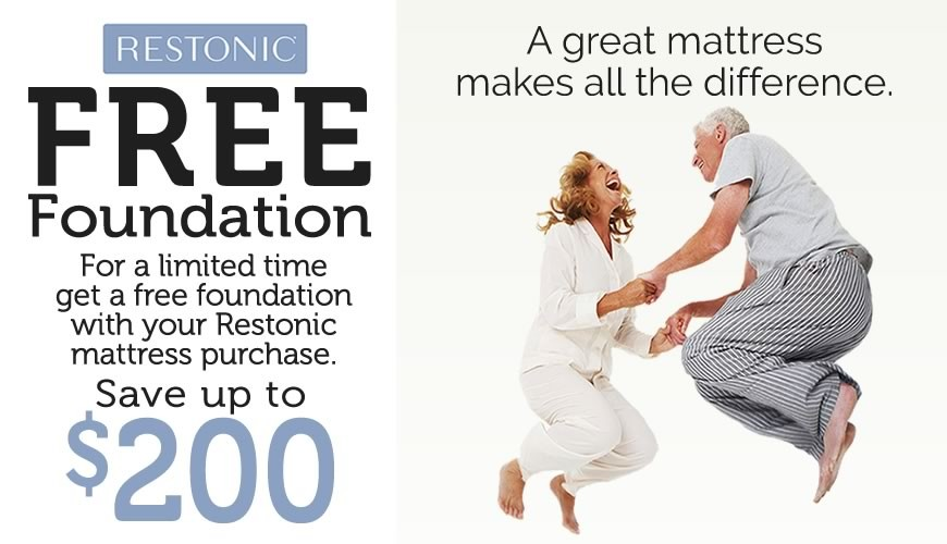 Restonic FREE Foundation Mattress Sale