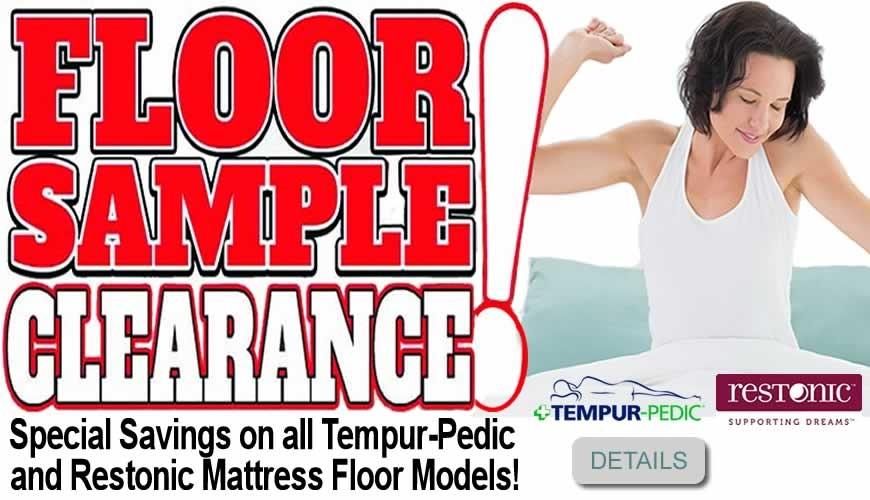 Floor Sample Mattress Clearance Sale